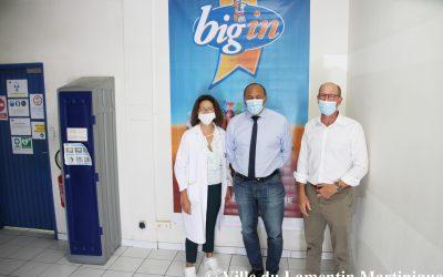 Le Maire David Zobda a visité l'entreprise Big'in